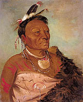 Wee-ta-ra-sha-ro,  Head Chief of the Tribe 1834, George Catlin