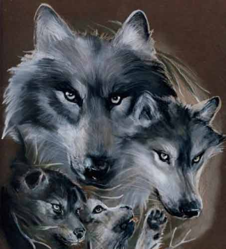 Wolf Paintings